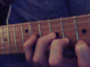 Recording a soon to be legendary guitar part for Monist
